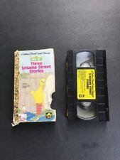 Golden Book THREE SESAME STREET STORIES VHS VIDEO Golden Book 1989