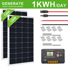 240Watt Solar KIT: 2×120W PV Solar Panel High Efficiency for 12V System RV Boat