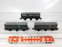 CF795-0,5# 3x Märklin H0/AC 4004 Abteilwagen/Personenwagen 330/1, sehr gut