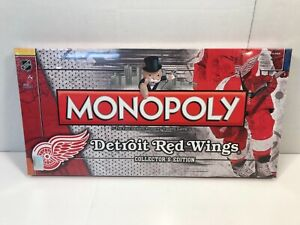 Monopoly NHL Detroit Red Wings Collectors Edition Hasbro 2010 NEW SEALED