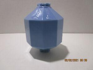 vtg Blue Glass D&S Lightning Rod Ball Globe Patent Pending