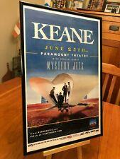 """BIG 11X17 FRAMED KEANE """"LIVE IN DENVER 2012"""" & STRANGELAND CONCERT TOUR POSTER"""