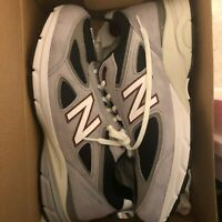 New Balance M990GN4 Grey Suede Mens Running 990v4 Made in USA 2E WIDE Size 12