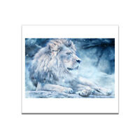 Snow Lion Canvas Art Painting Poster Living Room Picture Home Wall Room Decor