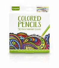 Crayola Pencils Adult Colouring Colored 50 Rich Vibrant Colours - 50 Pack