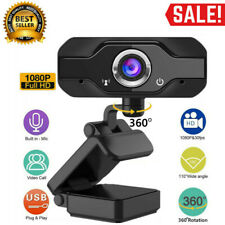 HD 1080P 360° Rotation Webcam Computer Camera with Mic for Laptop Video Meeting