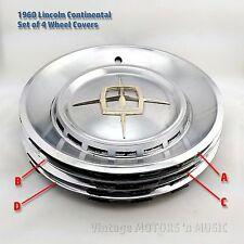 "1960 Lincoln Continental Mark 16"" Wheel Covers Set of 4 VERY GOOD to EXCELLENT"