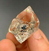 26.3 g A-Grade Herkimer Diamond w/ Rider Crystal, Gorgeous Rainbows, Sharp Termi
