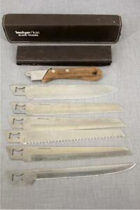 Kershaw KAI Cutlery 6 Blade Trader Steel Knife Kit W Case Made In Japan