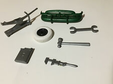 Vintage 50's Marx Fix-All Hard Top Convertible accessories Jack Gas Can Tools ++