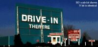 BLAIR LINES 168 HO DRIVE IN MOVIE THEATRE Model Railroad Building Kit FREE SHIP