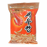 4x 180g NONGSHIM Pinky Finger Size Shrimp Stick Zipper Bag Korean Snack