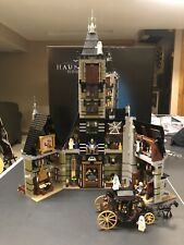 lego Fairgrounds Collection Haunted House 10273 + Custom Carriage