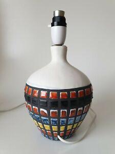 CAPRON FRANCE MODERNIST VALLAURIS CERAMIC LAMP BASE * NOT PAT TESTED *