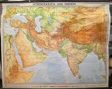 Schulwandkarte map Vorderasien und Indien Arabien Iran Persien Türkei 194x155 67