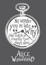 Alice in Wonderland Watch (White) - Typography quote Decorative Vinyl Wall Stick
