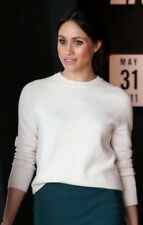 VICTORIA BECKHAM CASHMERE PULLOVER SIZE 1 IN VANILLA NWT ASO royal