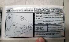 Ford falcon new nos ef el fan belt sticker
