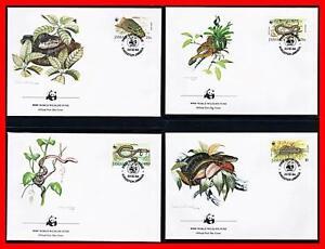 Jamaica 1984 Wwf-Snakes x4 FDC Rettili