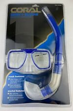 New listing Coral Series 1-Silicone Diver Snorkel Mask Tempered Glass