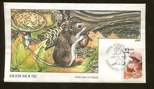 1997 Toronto Canada - USPS CAPEX STA - Deer Mouse - Collins FDC