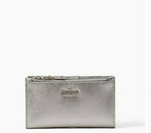 NWT- kate spade - cameron street- mikey leather bifold wallet - anthracite- $128