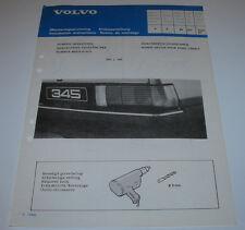 Einbauanleitung Volvo 340 360 Zierstreifen Stoßstange Bumper Mouldings 02/1982!