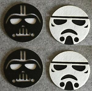 2/4pecs Anime Star Wars Round Cup Holder Coffee Felt Mat Placemat Pads Tableware