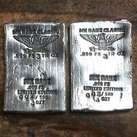 3 tr/oz MK BarZ  .999 Fine Silver Poured Classic Wafer Eagle Bar. Limited