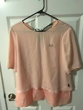 Scottish House Womens Top Size L Orange pink Polyester