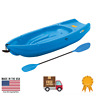 """Youth Kids Kayak with Paddle Footrest Outdoor Water Sports Boat Fishing Canoe 6"""""""