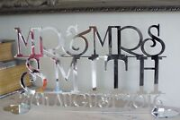 Personalised MR AND MRS Sign Wedding Top Table  Decoration, surname with date