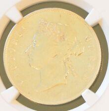 1892 China Hong Kong 50 Cent Victoria Silver Coin NGC VF Details