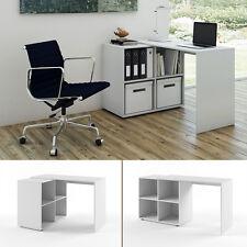 VICCO Schreibtisch Regal-Kombination Weiß Winkelschreibtisch PC Tisch Büro Regal
