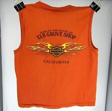 Harley-Davidson Motorcycle T-Shirt M ELK GROVE SHOP CA SKULL SLEEVELESS USA