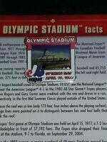 Willabee & Ward Olympic Stadium Montreal Expos MLB Baseball Pin W/Card