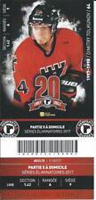 QMJHL Ticket - Quebec Remparts 20th Anniversary DIMITRY TOLKUNOV #64