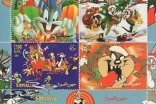 Bugs Bunny Wile E Coyote Somalie 2003 neuf sans charnière erreur Sheetlet-Top Bordure manquants
