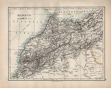 1902 MAP ~ AFRICA MAROCCO Marocco Stretto di Gibilterra