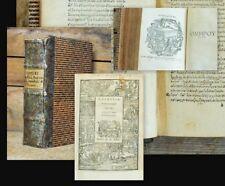 1525 Greek Printing Annotated Homer Odysseia Odyssey Batrachomyomachia Hymnoi