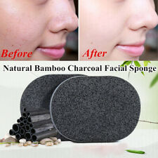 Bamboo Charcoal Facial Puff Sponge Face Deep Cleaning Washing Black Exfoliator
