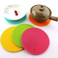 14cm Silicone Drink Cup Coasters Non-slip Pot Holder Round Heat Resistant Mat