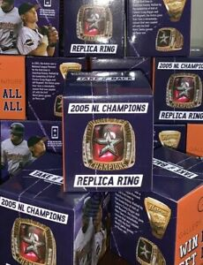 HOUSTON ASTROS BAGWELL NL CHAMPIONS REPLICA RING 2005 RARE & EXCLUSIVE ITEM