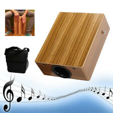 Traveling Cajon Drum Boxing Percussion Hand Wood Instrument with Braces Bag