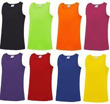 Girls High Back Plain Sleeveless Vest Top Kids T Shirt New Years 5-13