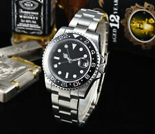 40mm GMT watch black sterile dial Ceramic bezel Sapphire Glass Automatic