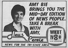 1981 Tv Ad~AMY BIE~WKBT NEWS in LA CROSSE,WISCONSIN~Eau Claire~Menomonie