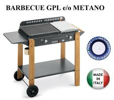 BARBECUE PIASTRA A GAS SAINT TROPEZ 580  MULTIGAS GPL METANO  6,6 KW MADE ITALY