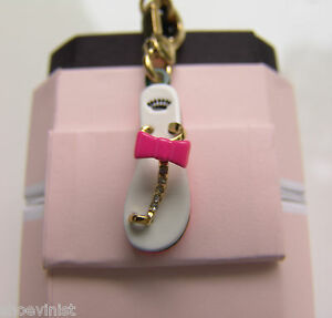 NEW IN BOX JUICY COUTURE Flip Flop Charm Pave Rare