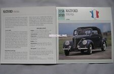 Matford Type F92A Collectors Classic Cars Card